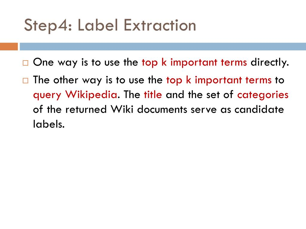 Step4: Label Extraction
