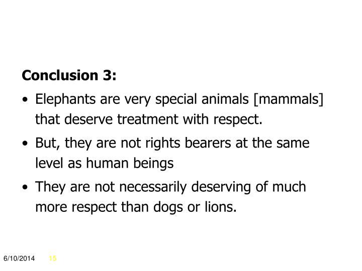 Conclusion 3:
