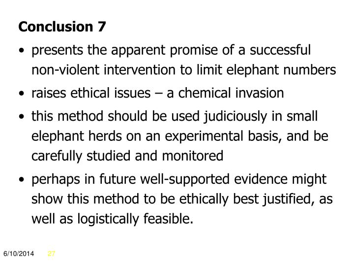 Conclusion 7