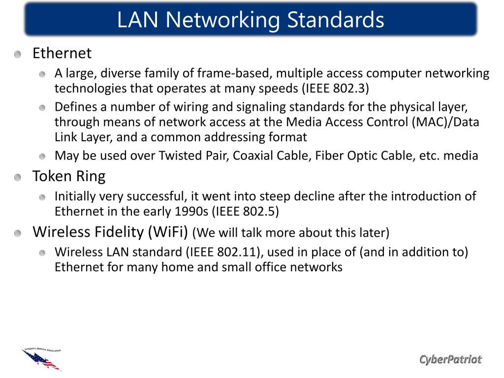 LAN Networking Standards