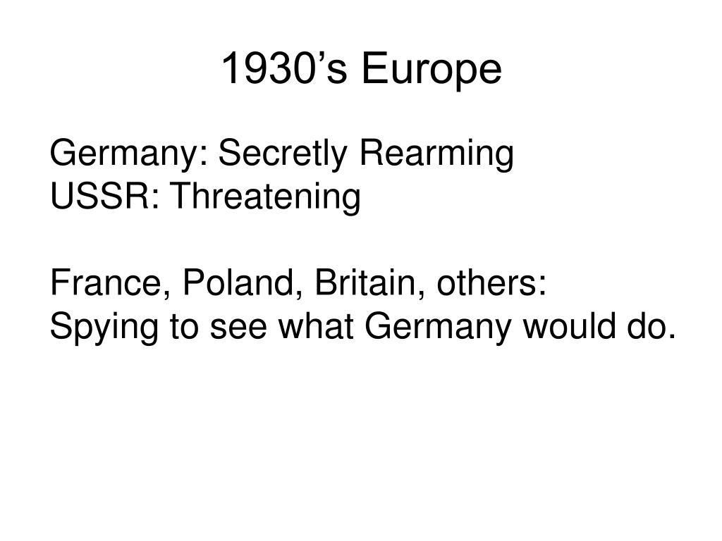 1930's Europe