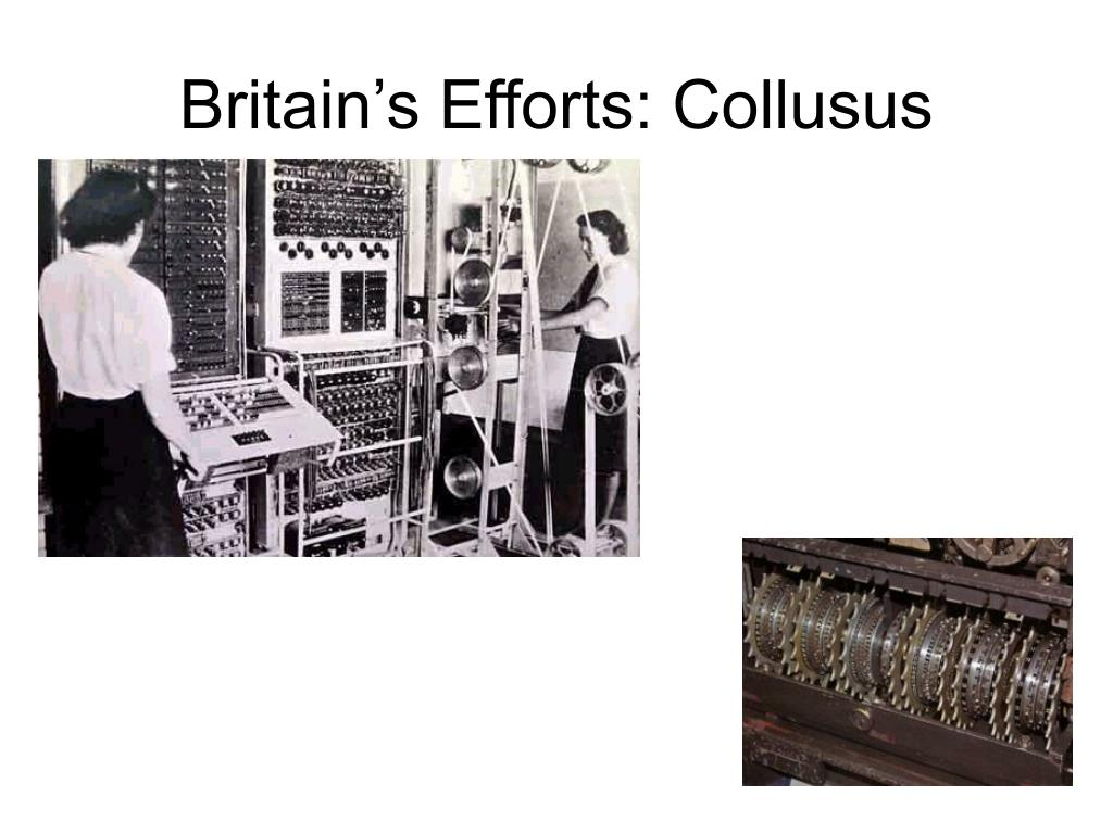 Britain's Efforts: Collusus