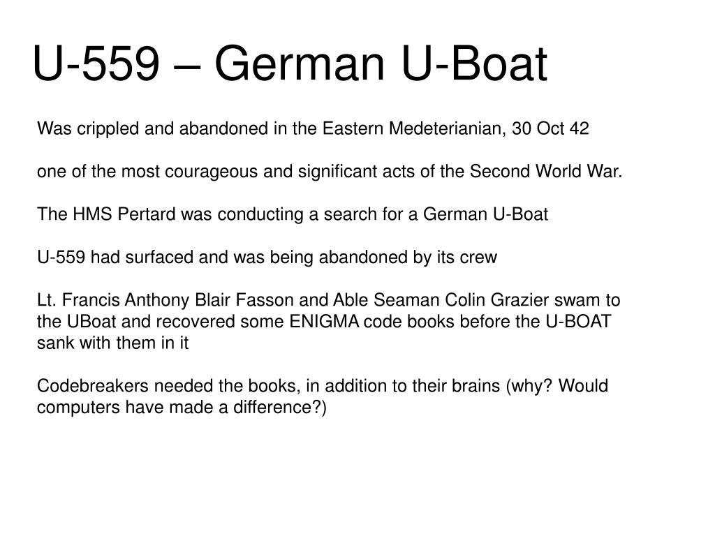 U-559 – German U-Boat