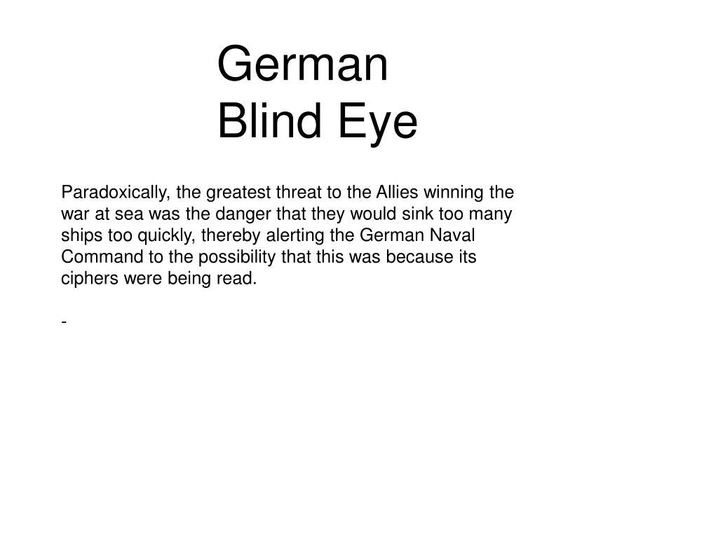 German Blind Eye