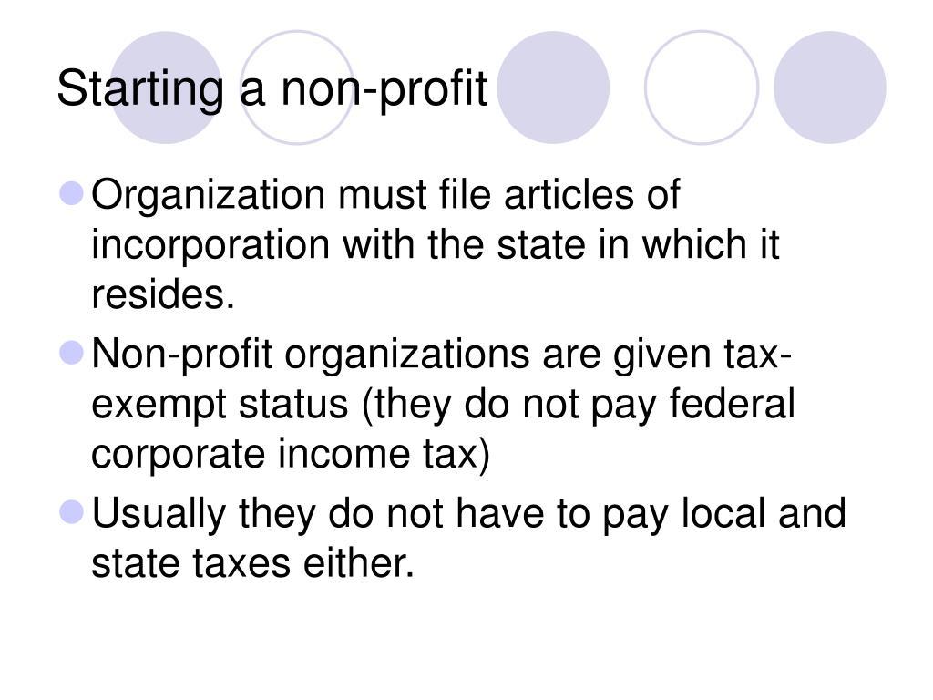 Starting a non-profit