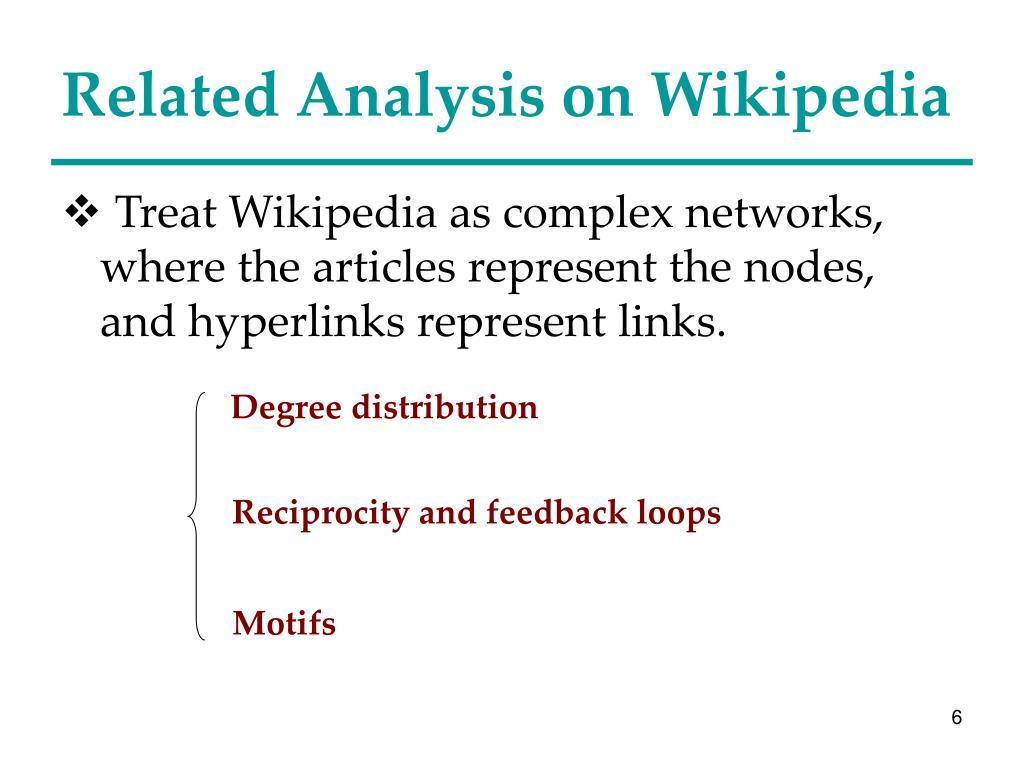 Related Analysis on Wikipedia