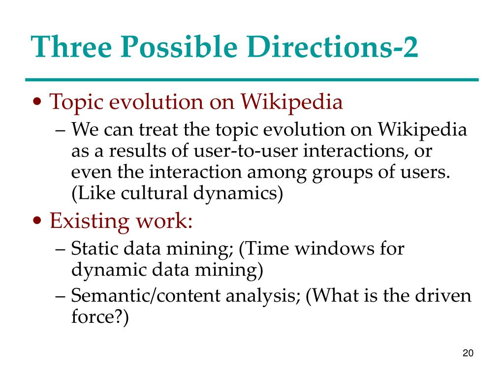 Three Possible Directions-2