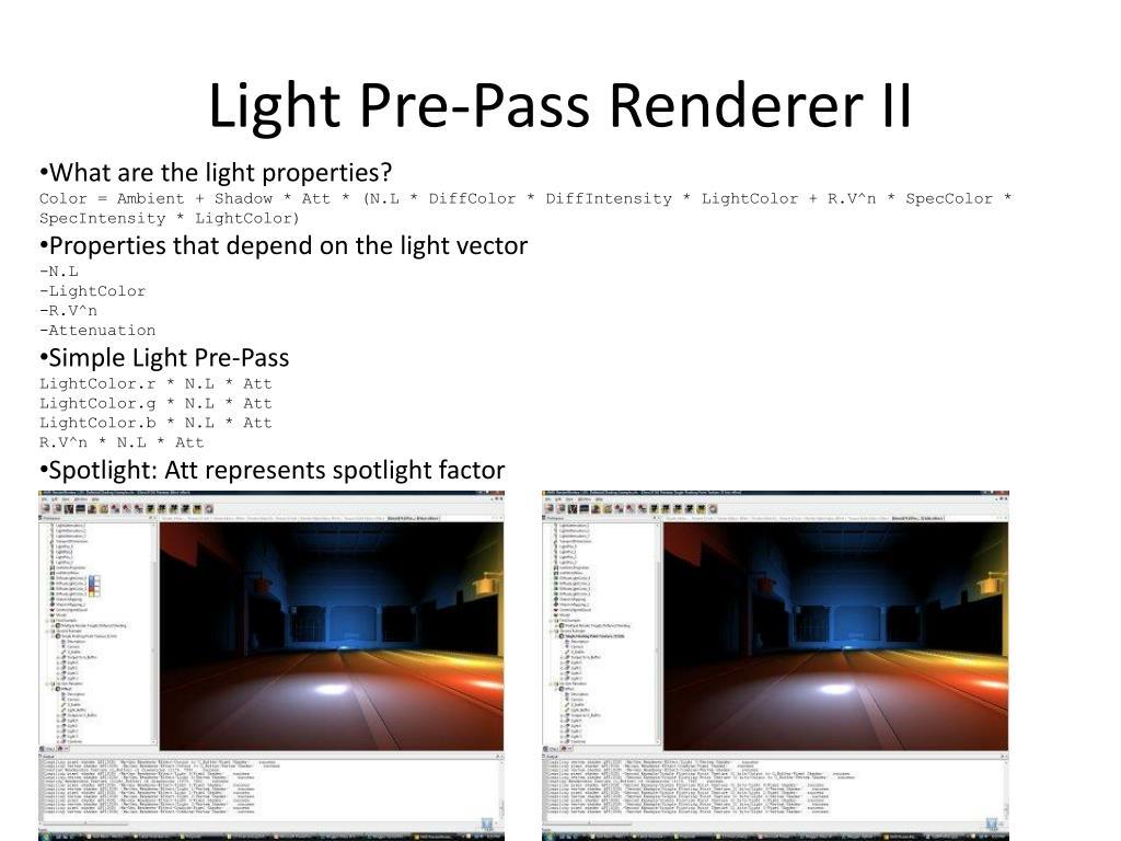 Light Pre-Pass Renderer II