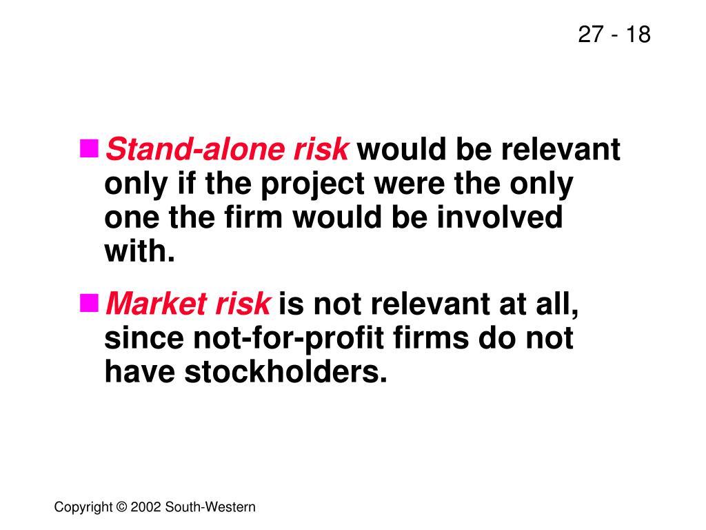 Stand-alone risk