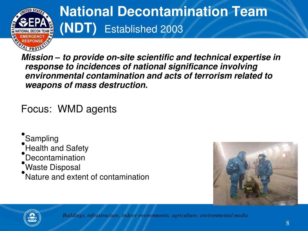 National Decontamination Team (NDT)
