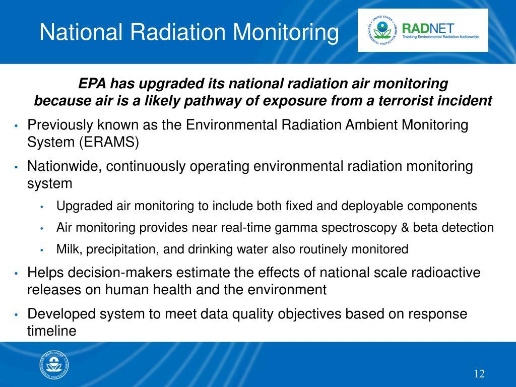 National Radiation Monitoring