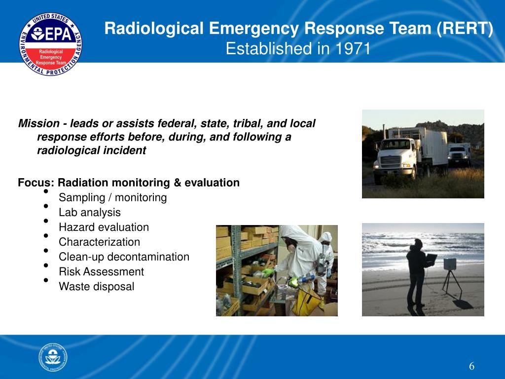 Radiological Emergency Response Team (RERT)