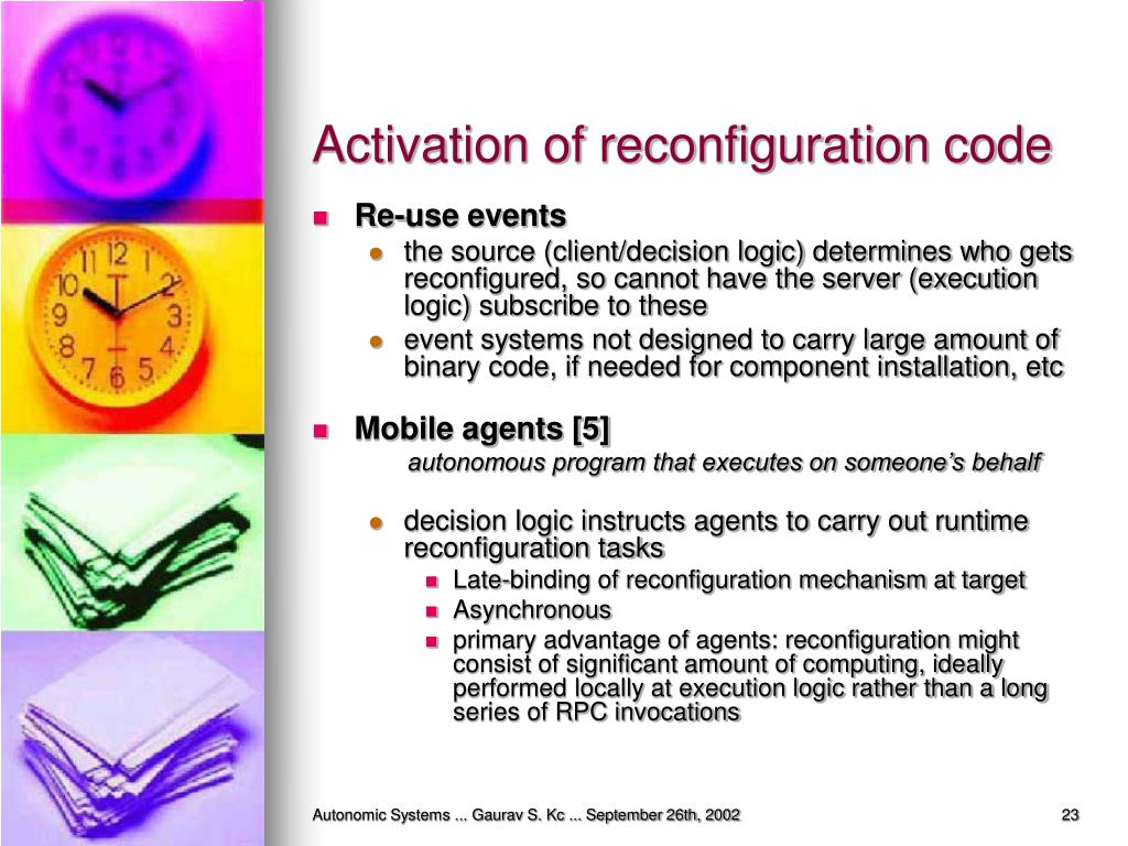 Activation of reconfiguration code