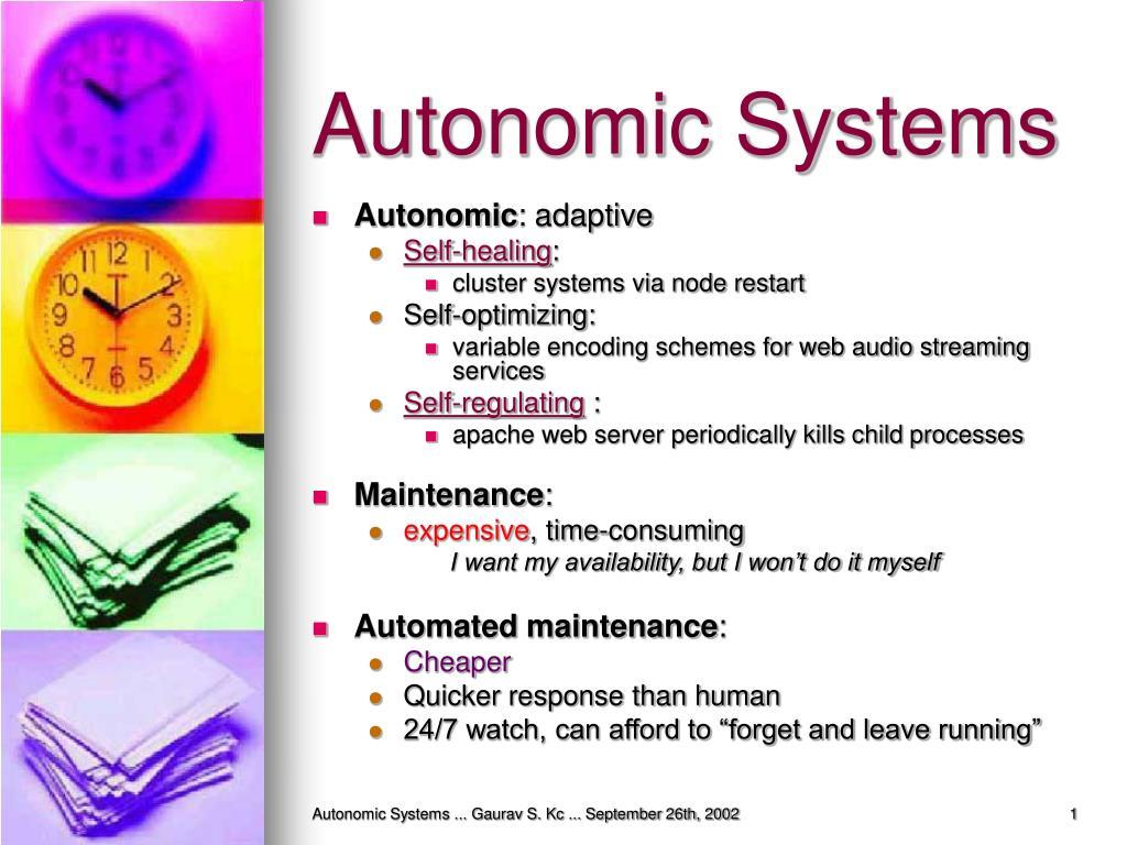 Autonomic Systems
