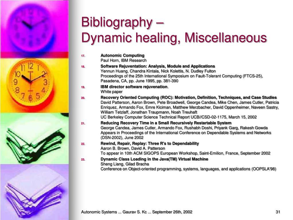 Bibliography –