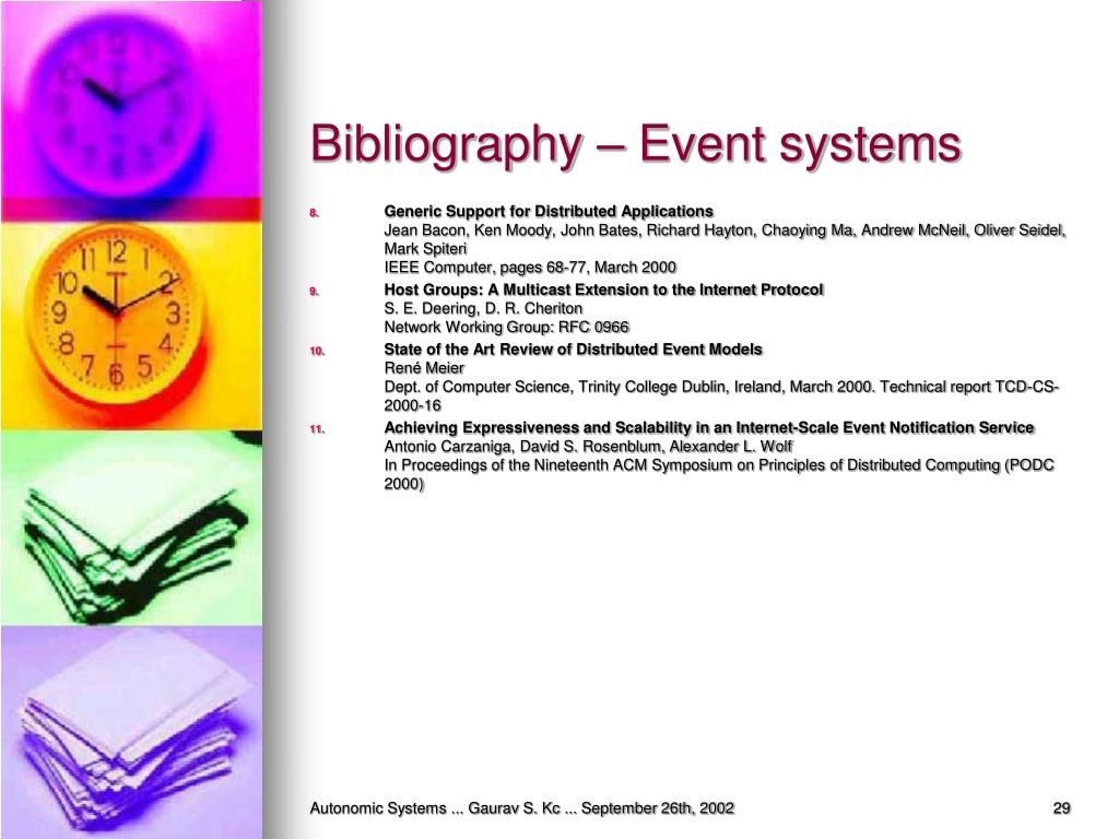Bibliography – Event systems