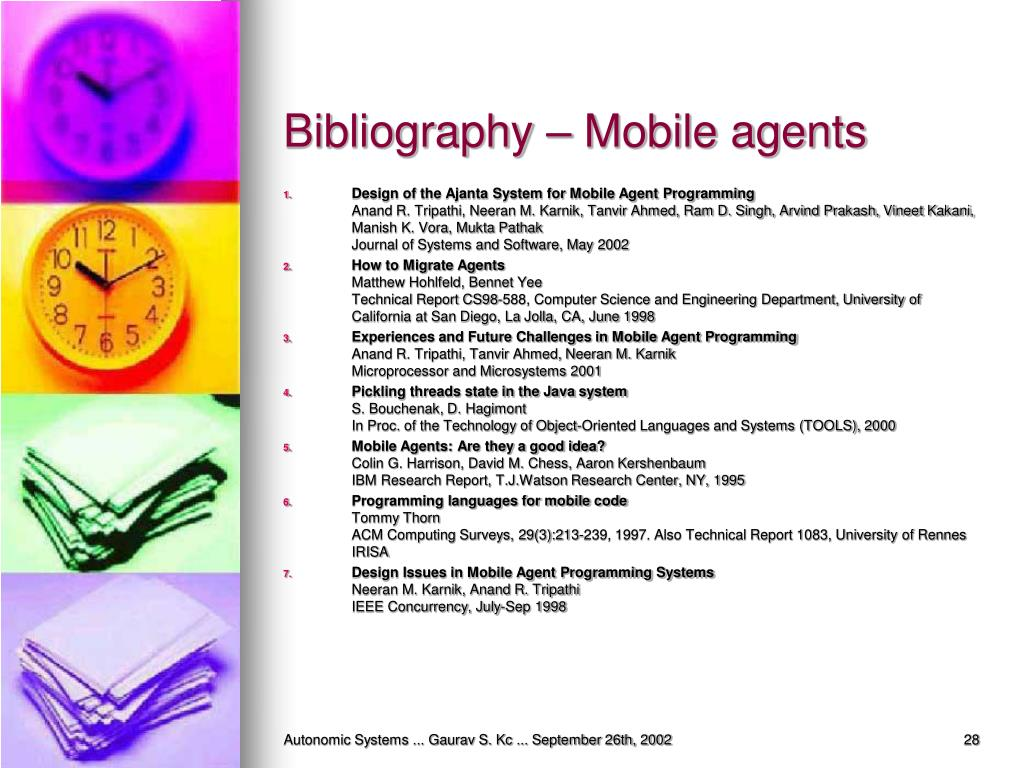 Bibliography – Mobile agents