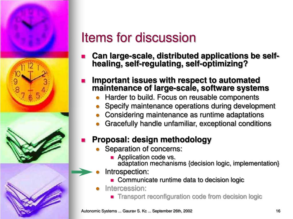 Items for discussion
