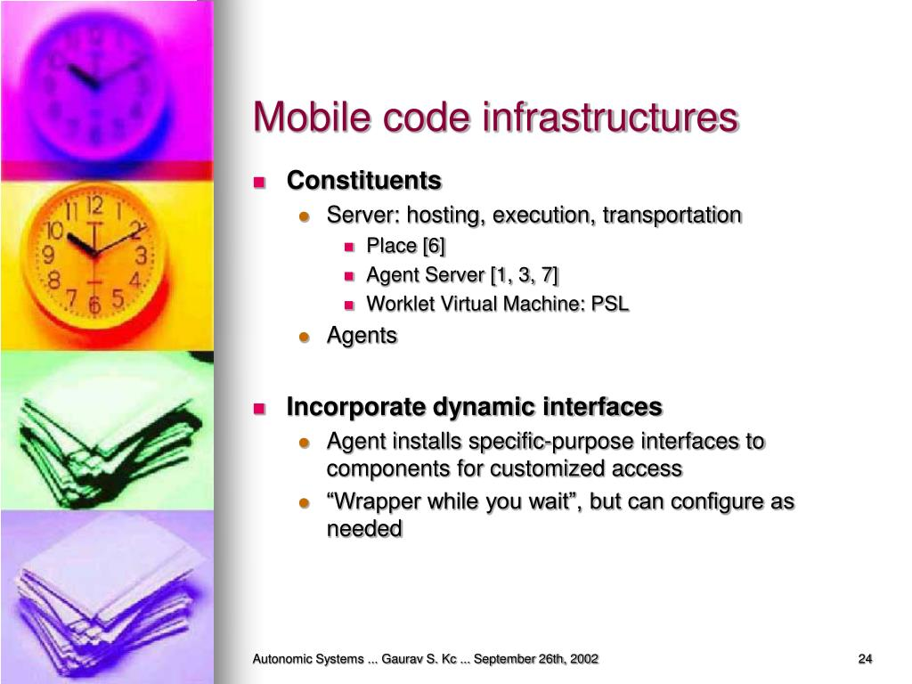 Mobile code infrastructures