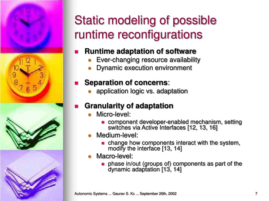 Static modeling of possible