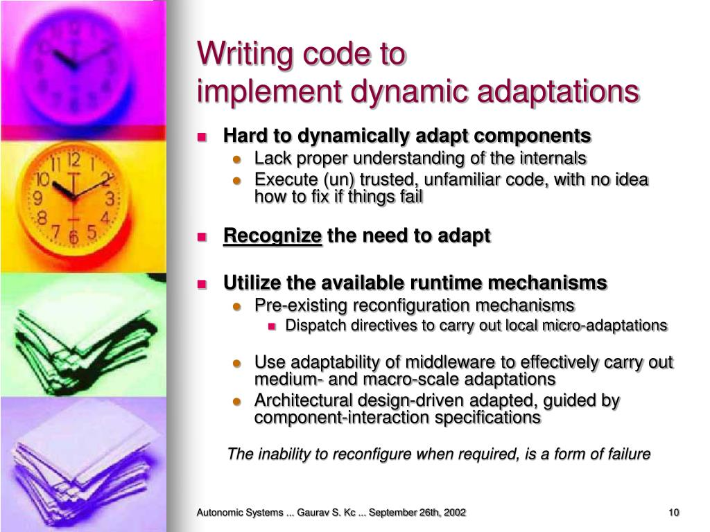Writing code to