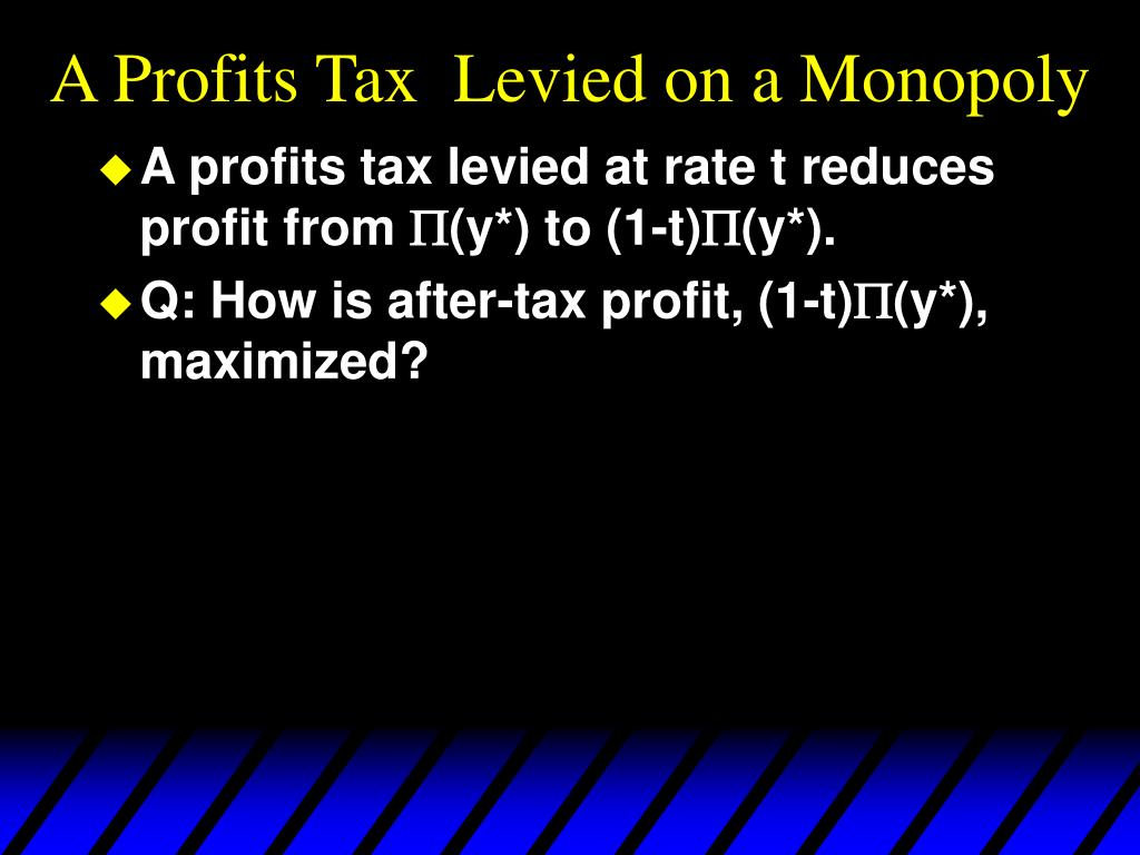 A Profits Tax  Levied on a Monopoly