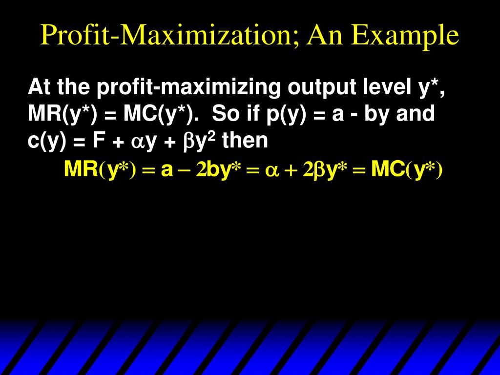 Profit-Maximization; An Example