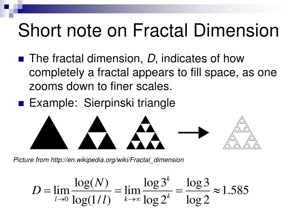 Short note on Fractal Dimension