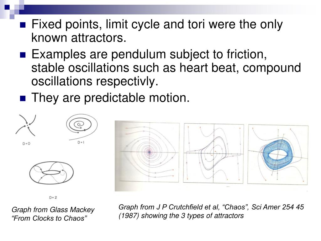 Fixed points, limit cycle and tori were the only known attractors.