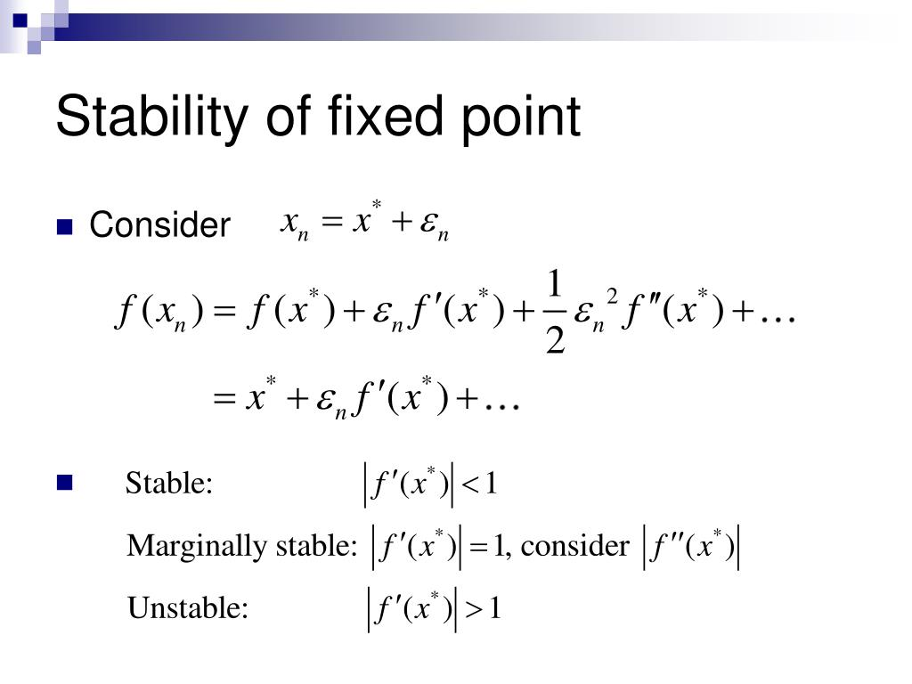 Stability of fixed point
