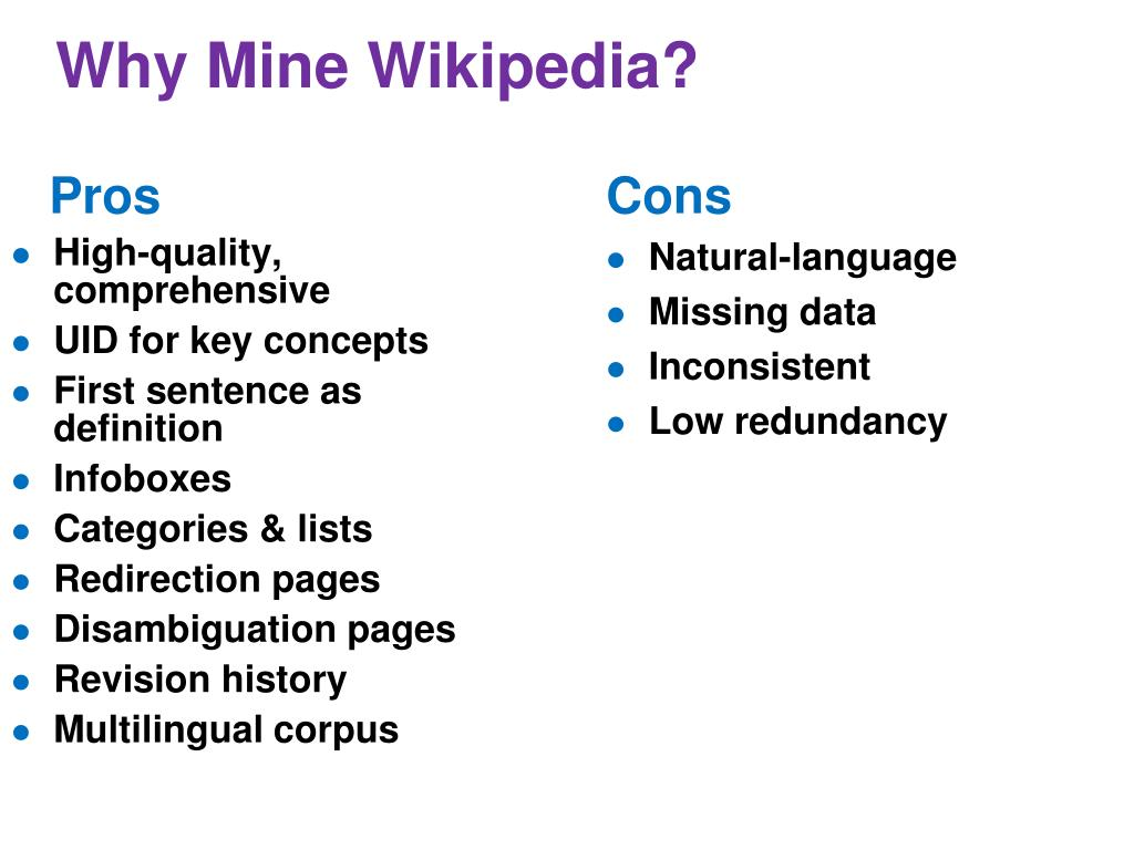 Why Mine Wikipedia?