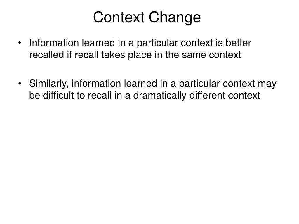 Context Change