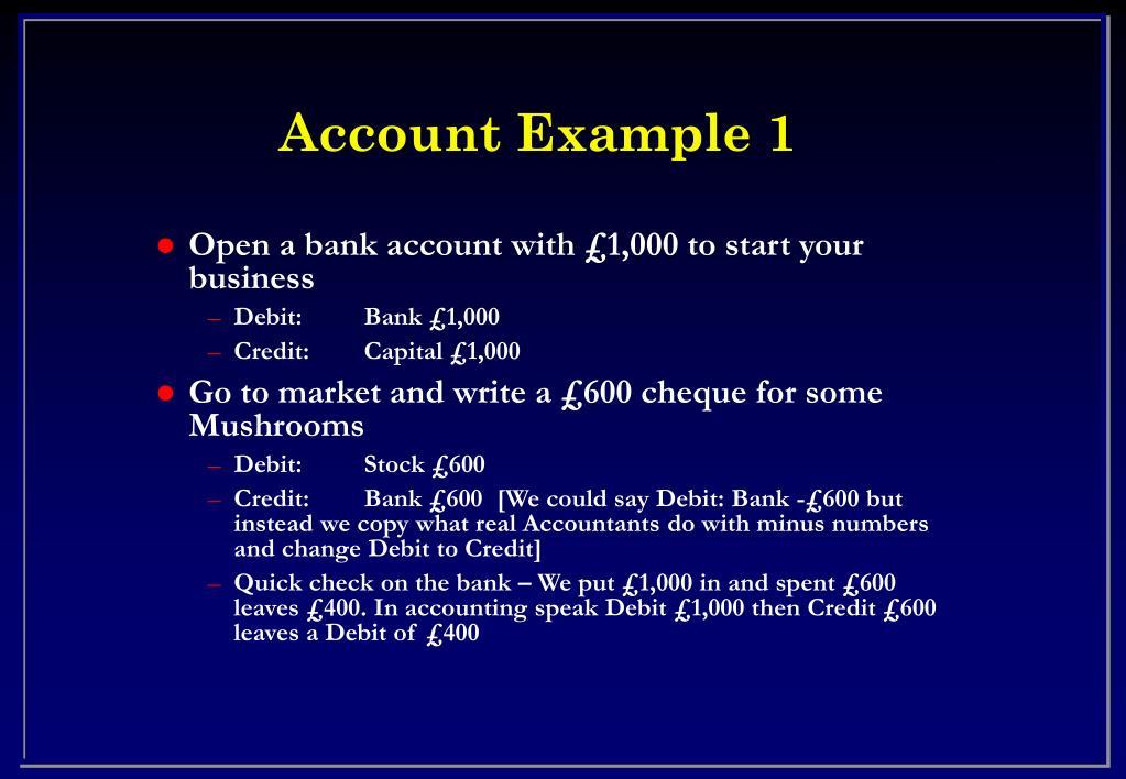 Account Example 1