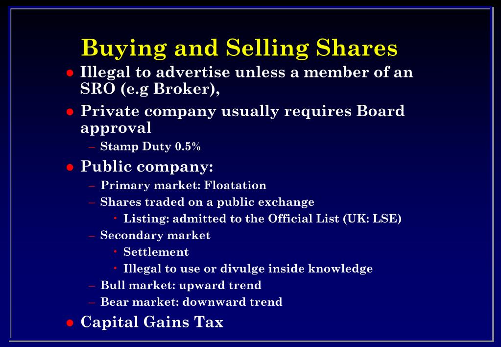Buying and Selling Shares