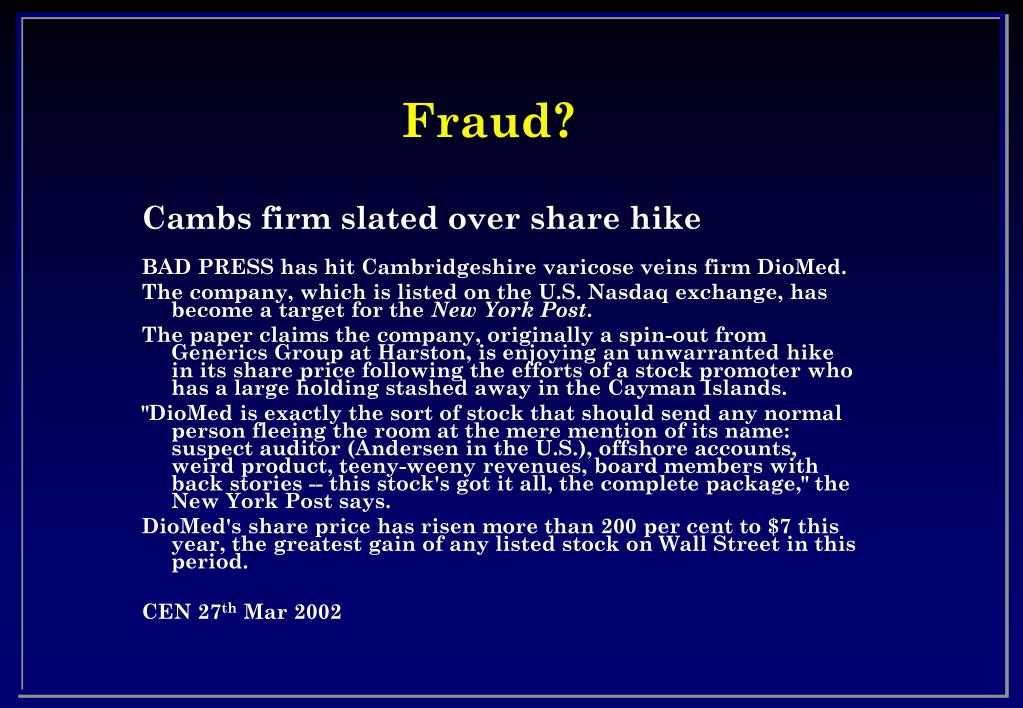 Fraud?