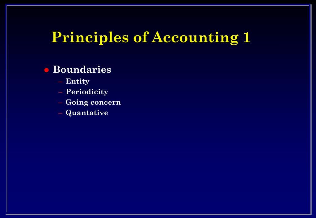 Principles of Accounting 1