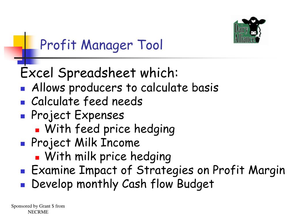 Profit Manager Tool