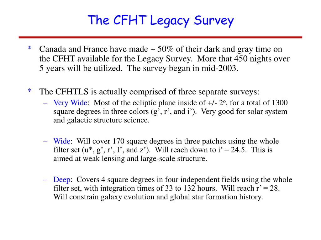 The CFHT Legacy Survey