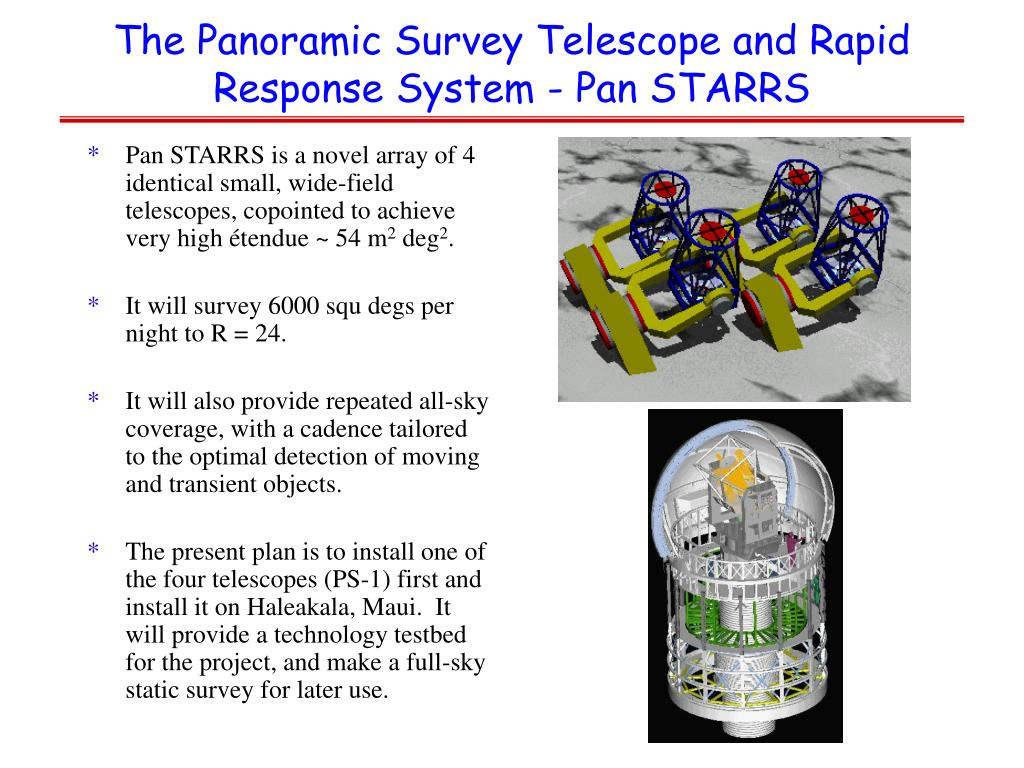 The Panoramic Survey Telescope and Rapid Response System - Pan STARRS