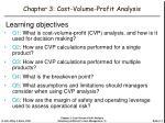 chapter 3 cost volume profit analysis