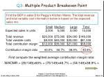 q3 multiple product breakeven point24