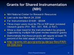 grants for shared instrumentation nih