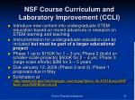 nsf course curriculum and laboratory improvement ccli