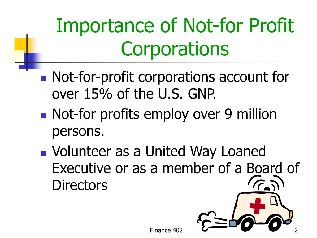 Importance of Not-for Profit Corporations