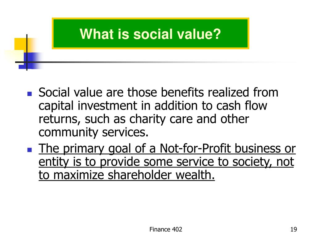 What is social value?