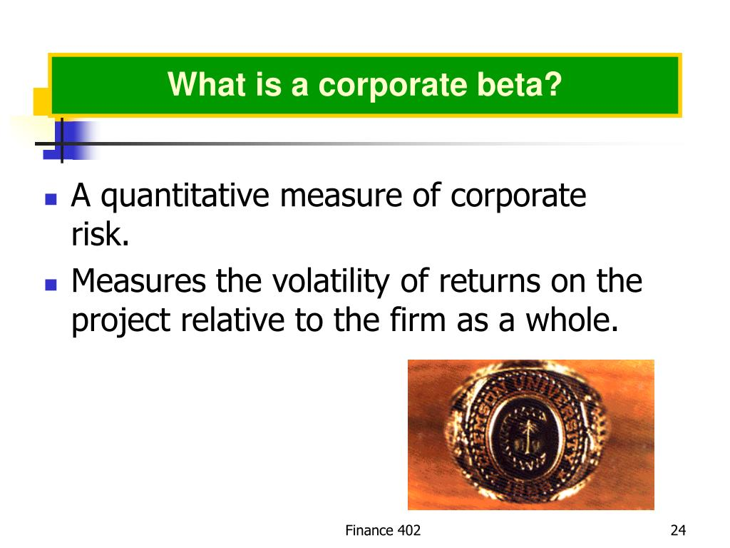 What is a corporate beta?