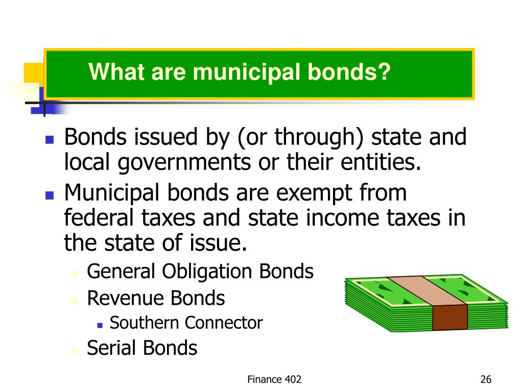 What are municipal bonds?