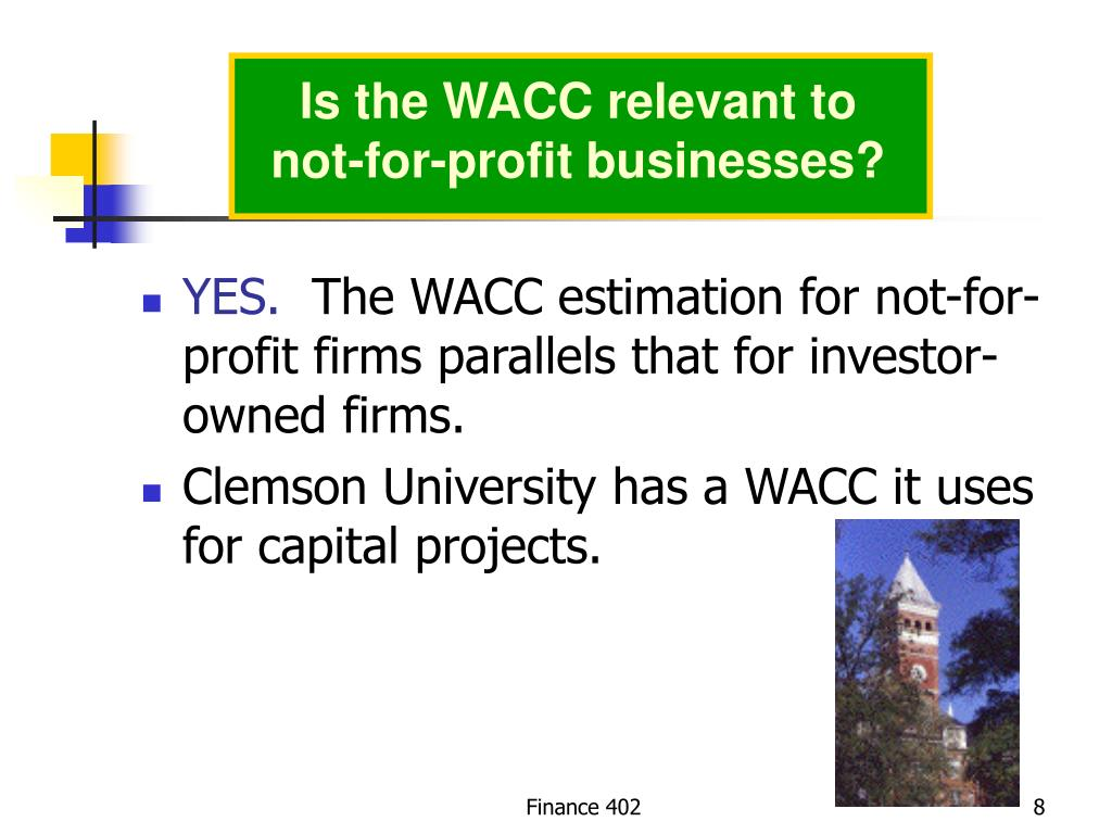 Is the WACC relevant to