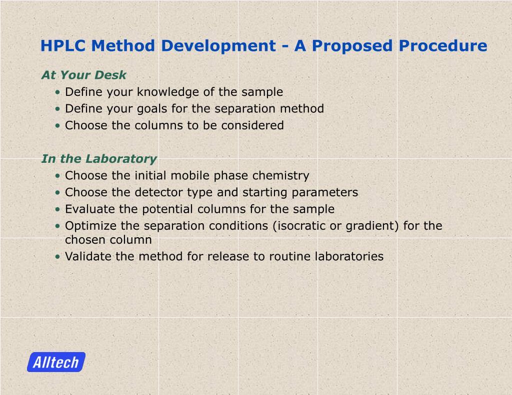 Thesis Hplc Method Development