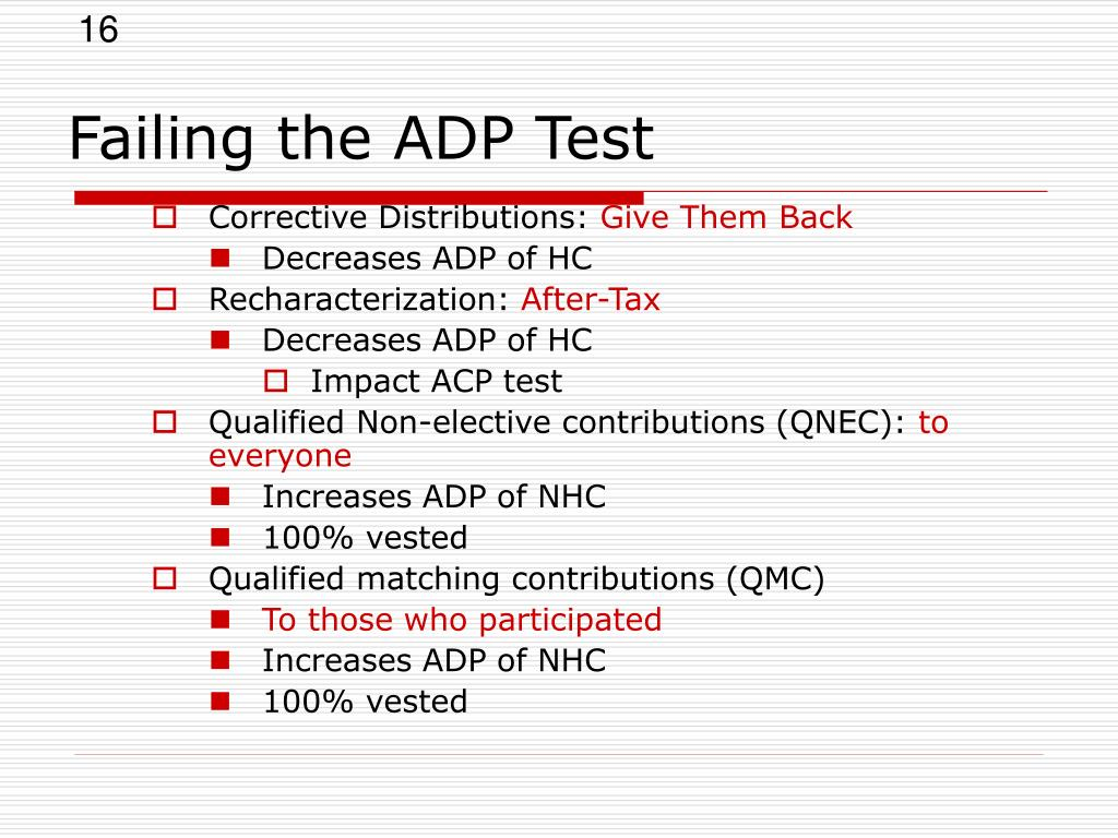 Failing the ADP Test